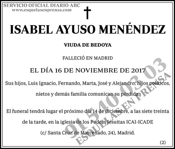 Isabel Ayuso Menéndez